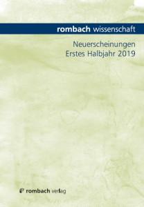 Programmvoschau Rombach Wissenschaft Erstes Halbjahr 2019